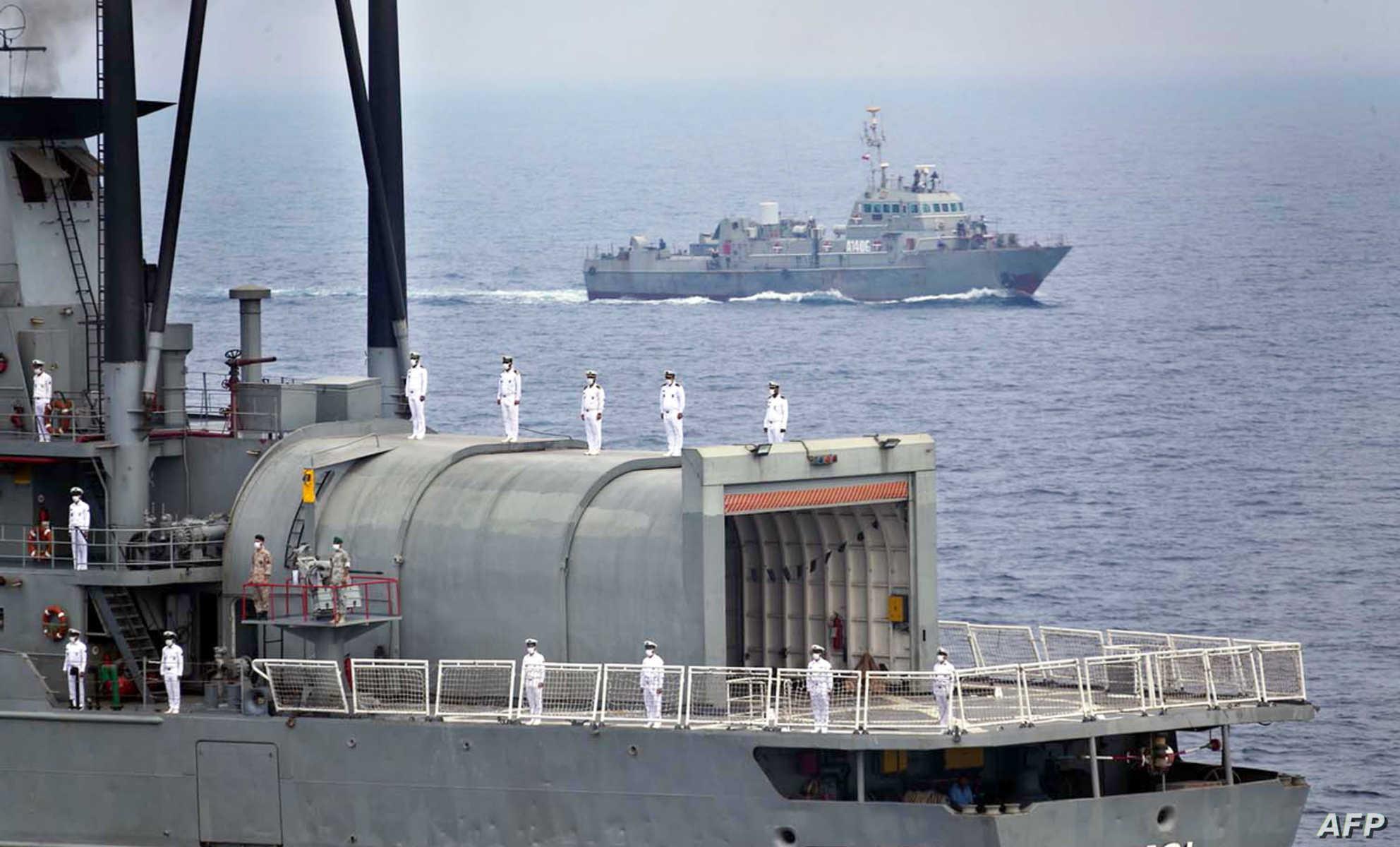 سفينة سافيز الإيرانية تتنقل قرب باب المندب. أرشيفية - تعبيرية
