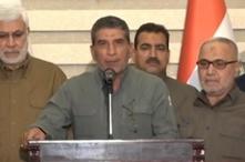 أبو منتظر الحسيني رفقة أبو مهدي المهندس وقيادات في الحشد الشعبي