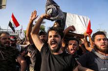 الاحتجاجات تأتي بعد مقتل الناشط إيهاب الوزني في كربلاء