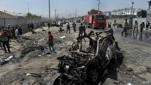 موقع الهجوم الانتحاري في كابل