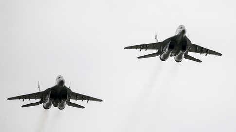 مقاتلات من طراز ميغ-29 الروسية والتي نشرت موسكو عدد منها في ليبيا في الآونة الأخيرة