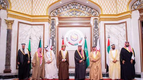 قادة دول مجلس التعاون خلال قمة عقدوها في الرياض في ديسمبر 2019