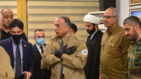 الكاظمي يزور مقر هيئة الحشد الشعبي في بغداد