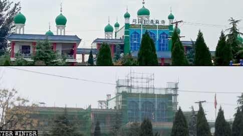 """صورة نشرتها مجلة بيتر ونتر لأحد المساجد الصينية التي خضعت لأعمال """"ترميم"""""""
