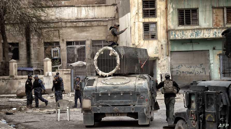قوات عراقية تتقدم في إحدى مناطق غرب الموصل
