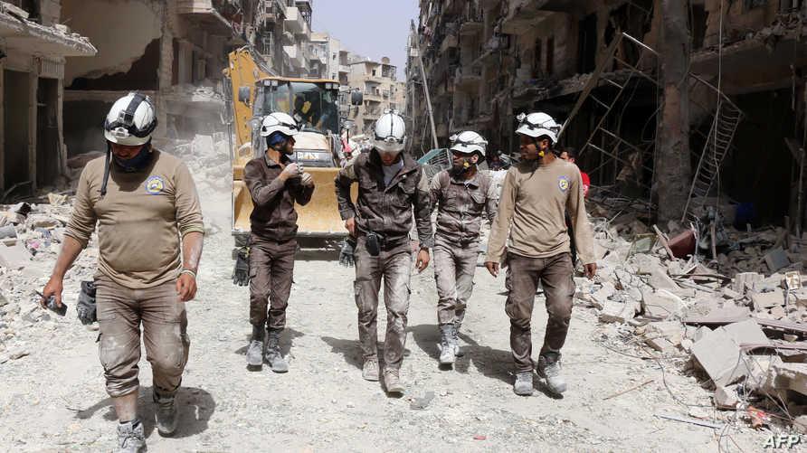 متطوعو الخوذ البيضاء في حلب