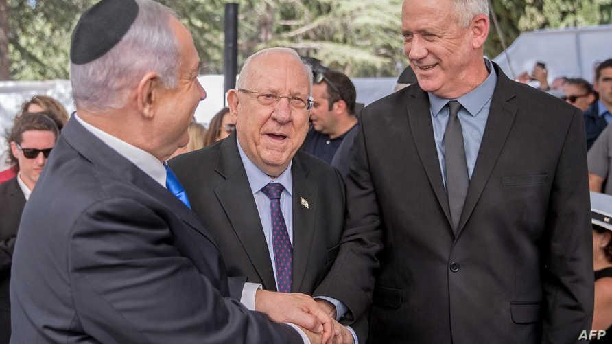 رئيس الوزراء الإسرائيلي بنيامين نتانياهو ومنافسه بيني غانتس سيجتمعان مع ترامب