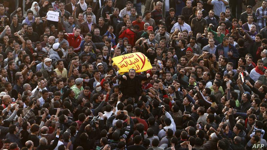 ميدان التحرير في 25 كانون الثاني/يناير 2011