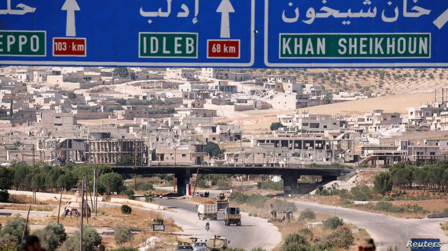 لافتات طرقية في إدلب