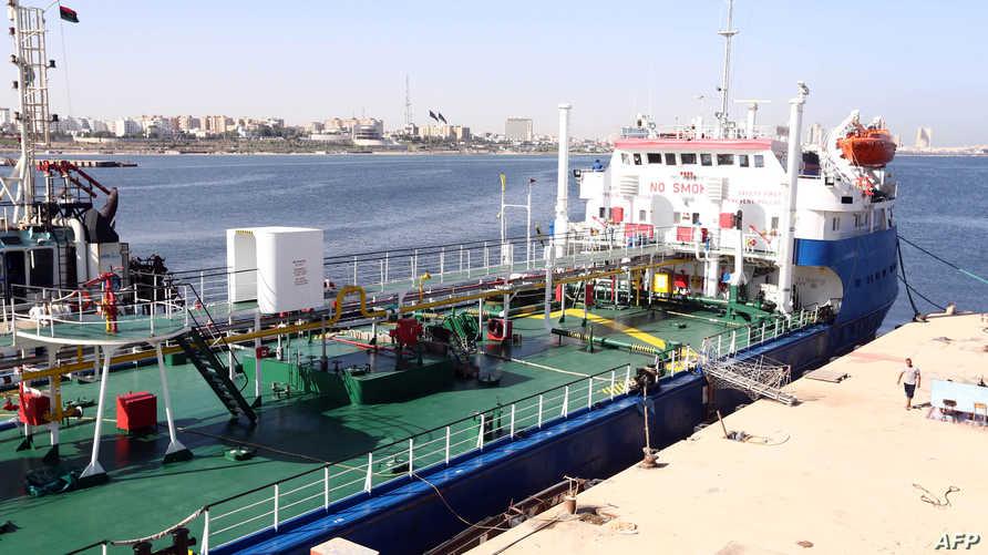 ناقلة النفط الروسية التي اقتادها خفر السواحل الليبي