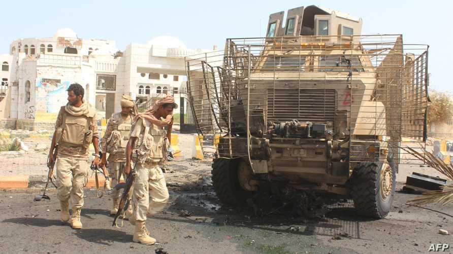 قوات يمنية في أبين