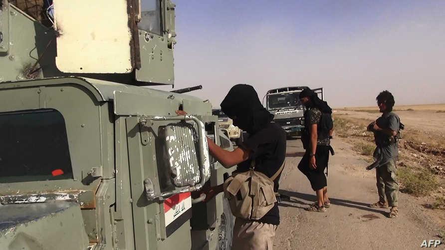 صورة لمسلحي داعش في قضاء سنجار - أرشيف