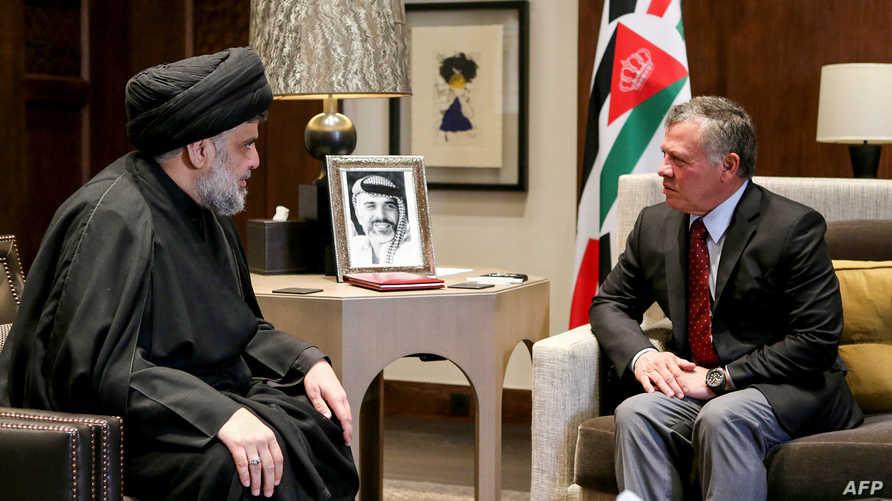 لقاء الملك عبد الله بمقتدى الصدر