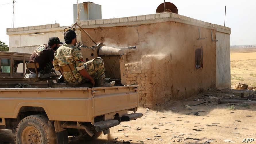 قوات موالية لتركيا على أطراف مدينة رأس العين