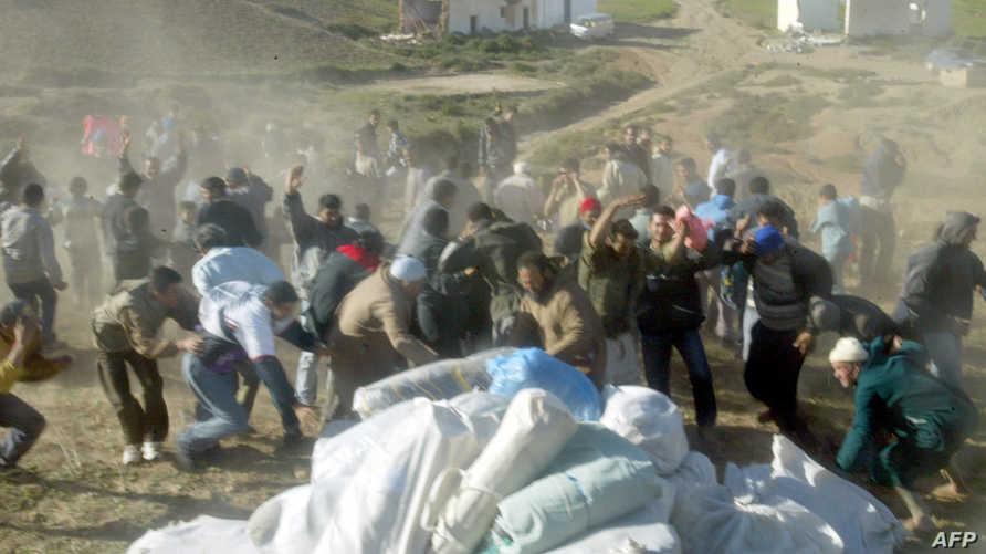 حادثة سابقة لتدافع خلال عملية توزيع مساعدات على متضررين من زلزال الحسيمة (2004)