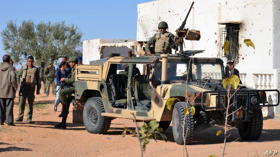 عناصر من القوات الخاصة التونسية في بن قردان -آذار/ مارس الماضي