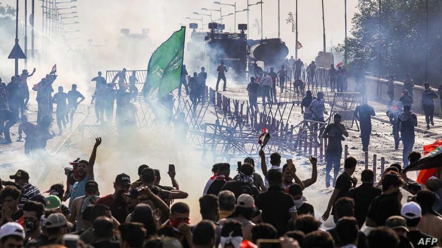 جانب من الاحتجاجات في بغداد