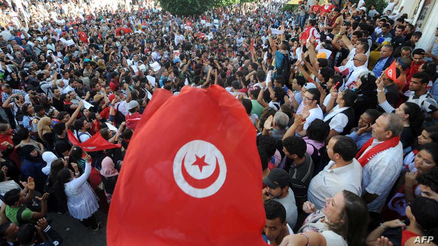 مظاهرات في تونس للمطالبة باستقالة حكومة النهضة-أرشيف