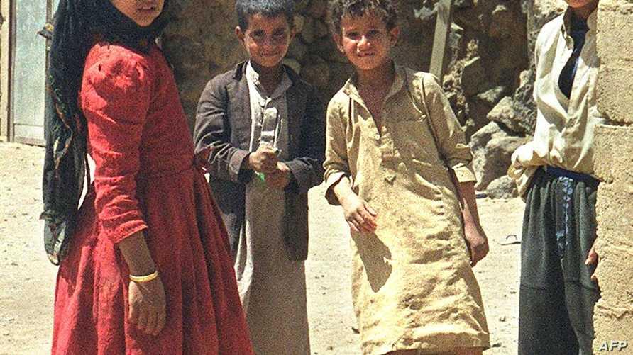 أطفال يهود في اليمن في لقطة التقطت عام 2000