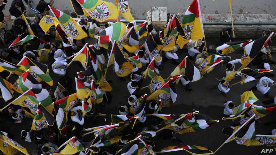"""احتفالات مناصري حركة """"فتح"""" بمناسبة الذكرى الـ 54 لانطلاقتها"""