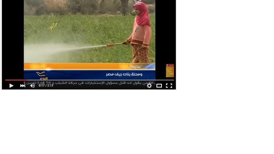 بدرية خلال عملها في أحد الحقول