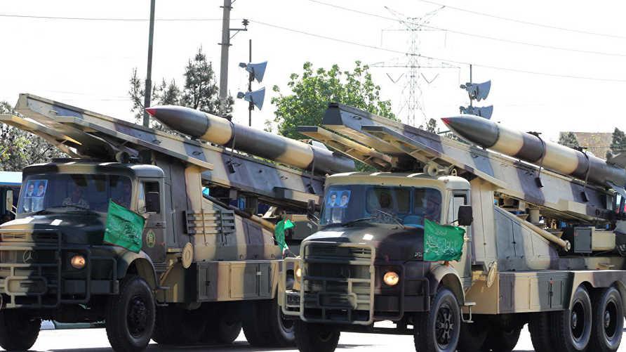 قاصفات صواريخ إيرانية خلال عرض عسكري في 2017