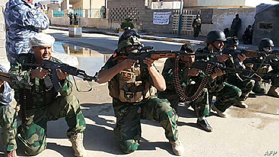 جنود القوات العراقية ينتشرون في شوارع الأنبار