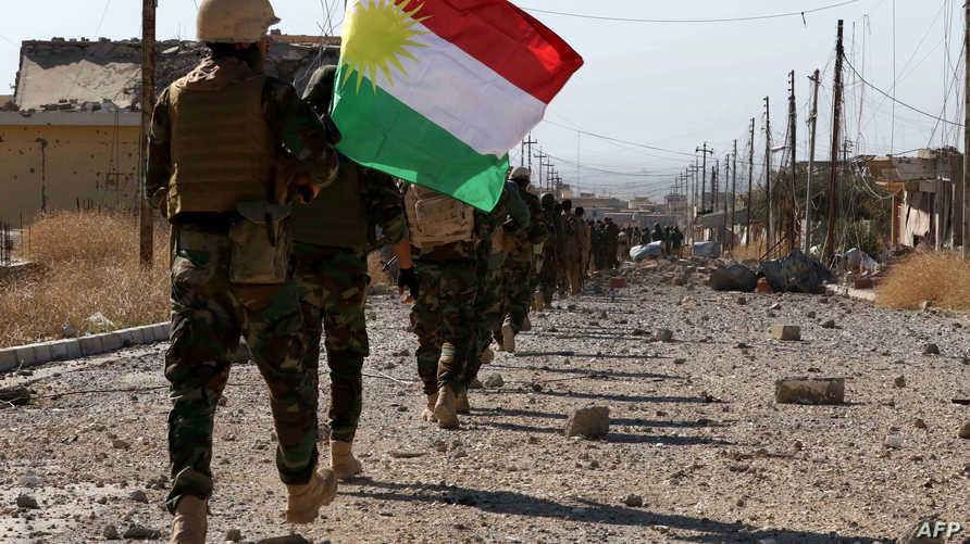 عناصر في قوات البيشمركة الكردية