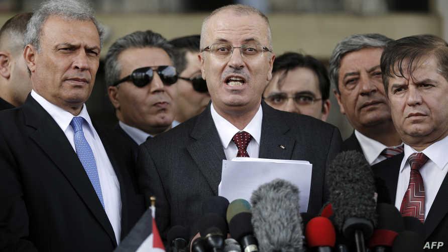 رئيس الحكومة الفلسطينية رامي الحمد الله - أرشيف