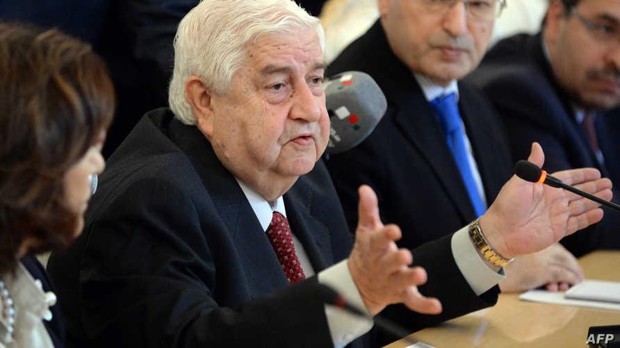 وفد من الحكومة السورية إلى روسيا برئاسة وزير الخارجية وليد المعلم، أرشيف