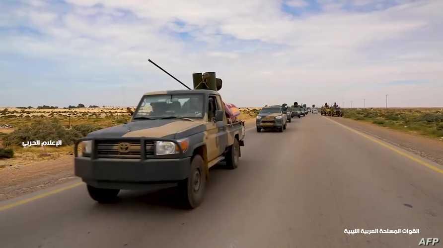 قوات تابعة لحفتر في الطريق إلى طرابلس