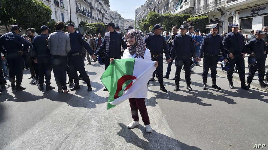من مظاهرات الطلاب والأساتذة في الجزائر العاصمة