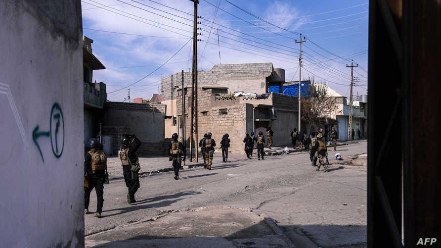 عناصر من القوات الخاصة العراقية في الموصل