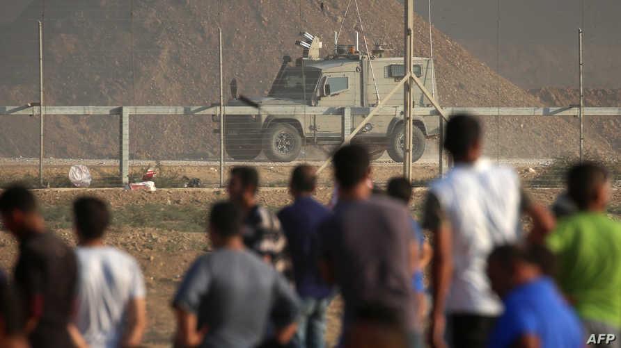 من الاشتباكات على حدود قطاع غزة الجمعة
