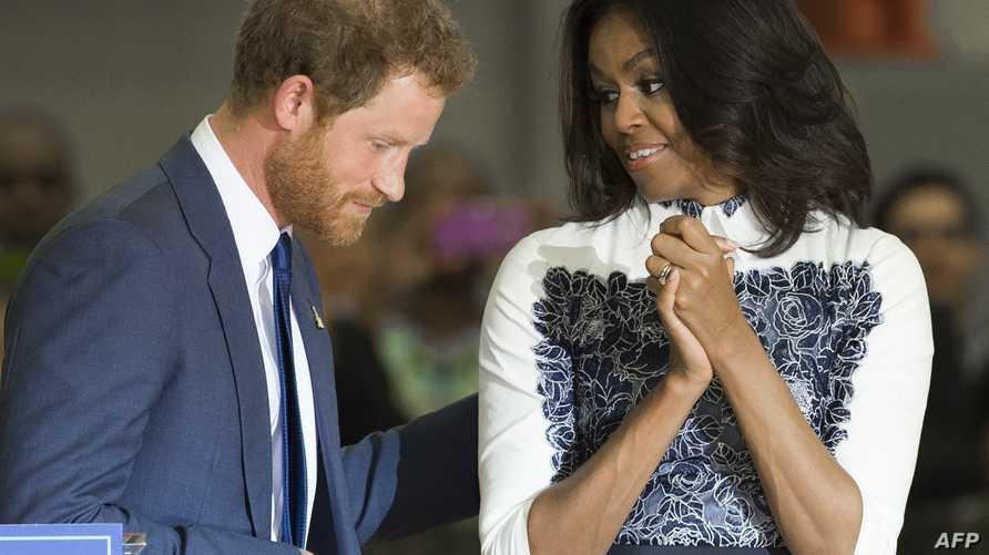 ميشيل أوباما رفقة الأمير هاري-أرشيف