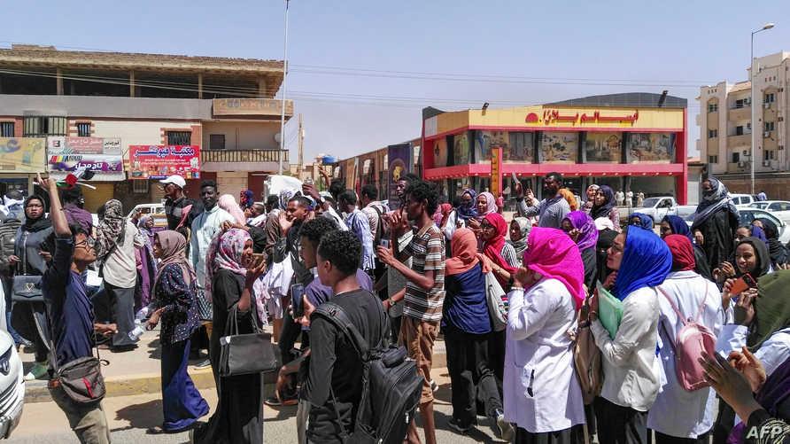 تظاهرات في السودان- الصورة من وسائل التواصل الاجتماعي