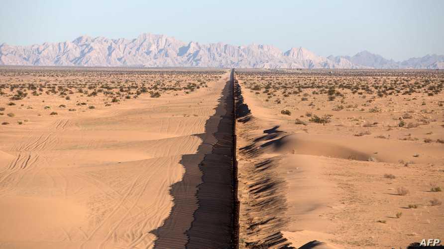 جانب من الحدود الأميركية المكسيكية
