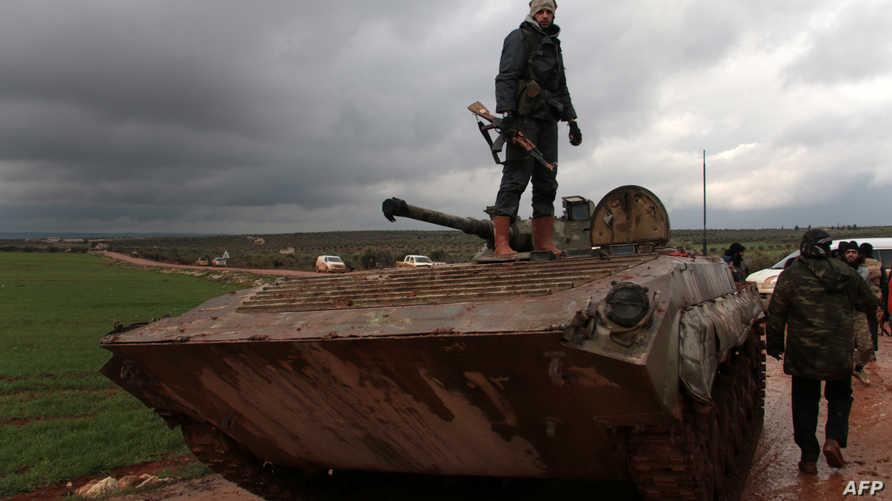 مقاتلون من المعارضة في حلب