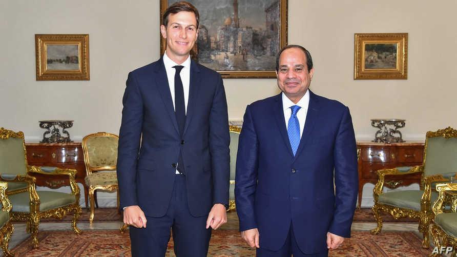 السيسي وكوشنر خلال لقائهما في القاهرة