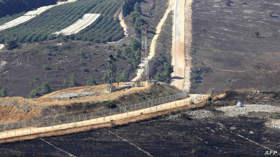 منطقة أفيفيم الإسرائيلية في صورة مأخذوة من بلدة مارون الراس الجنوبية اللبنانية، 2 سبتمبر 2019