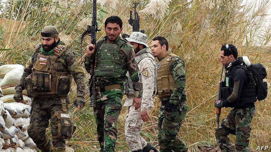 قوات عراقية مشتركة اثناء قتال داعش في صلاح الدين
