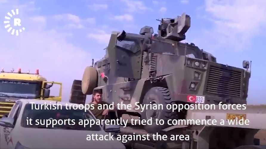 الآلية العسكرية التركية في قبضة قوات سوريا الديمقراطية
