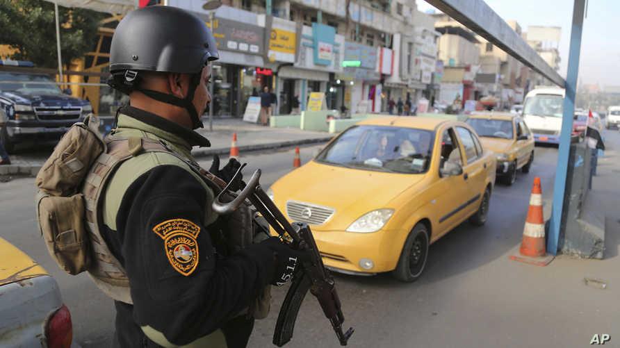 نقطة تفتيش أمنية في بغداد