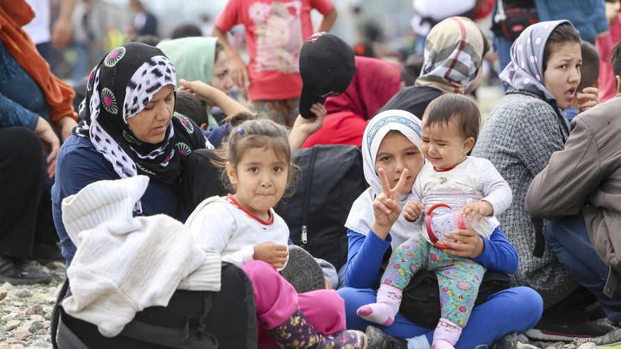 لاجئات سوريات- أرشيف