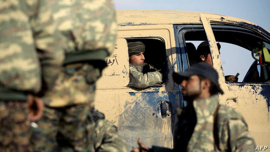 عناصر في قوات سورية الديموقراطية- أرشيف