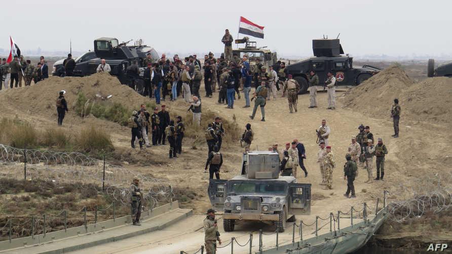 قوات عراقية بعد تحرير الرمادي