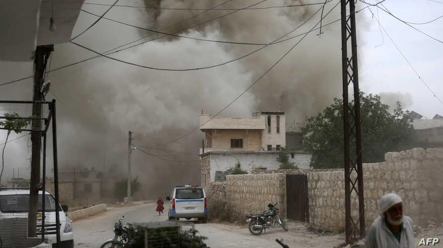 غارة على قرية كفر روما جنوب إدلب