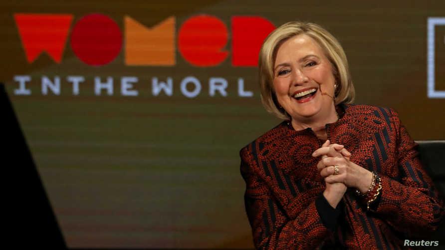 وزيرة الخارجية الأميركية السابقة هيلاري كلينتون تشارك في قمة بنيويورك في أبريل 2019