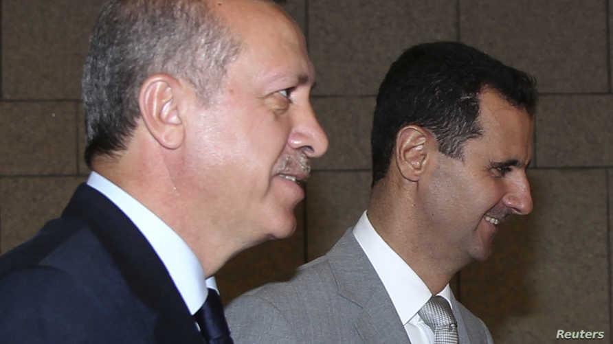 لقاء أرشيفي بين الأسد وأردوغان
