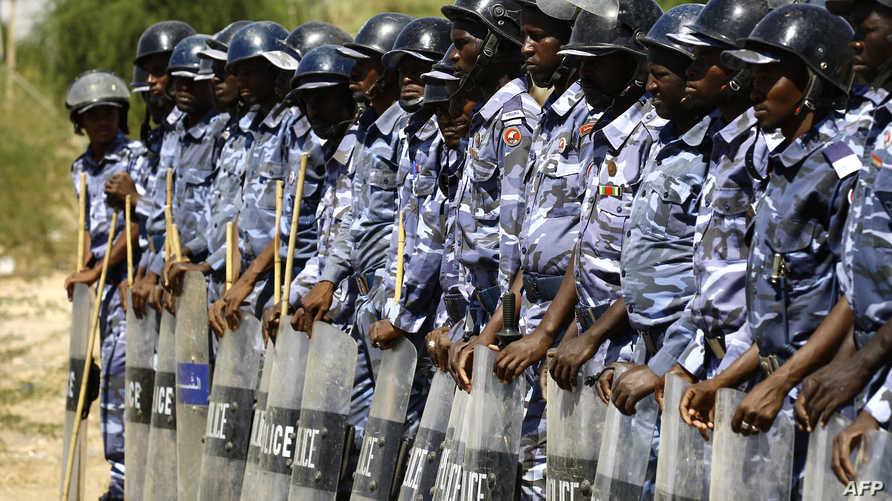عناصر من الشرطة السودانية -أرشيف